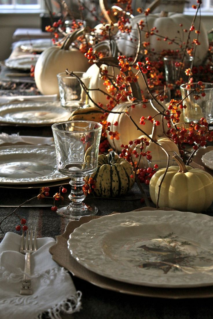 Dining Tables Dressed for Fall