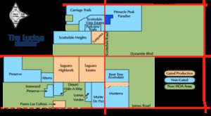 Clickable Desert Foothills Area Map