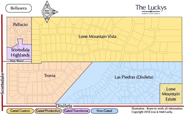 Lone Mountain Area Map