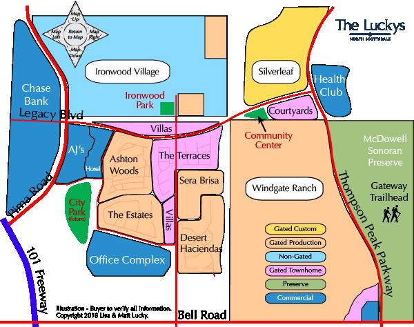 Desert Park Village Map